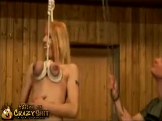 CrazyShit.com | Hanging By Her Tits - Crazy Shit!->