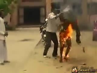 CrazyShit.com | Best Human Torch Impression - Crazy Shit!->