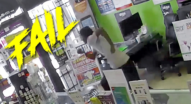 DUMBASS OF THE MONTH: THIEF OUTWITTED BY STORE OWNERS