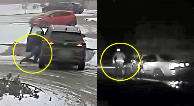 2 IDIOTS MANAGED TO RUN THEMSELVES OVER WITH THEIR OWN CARS