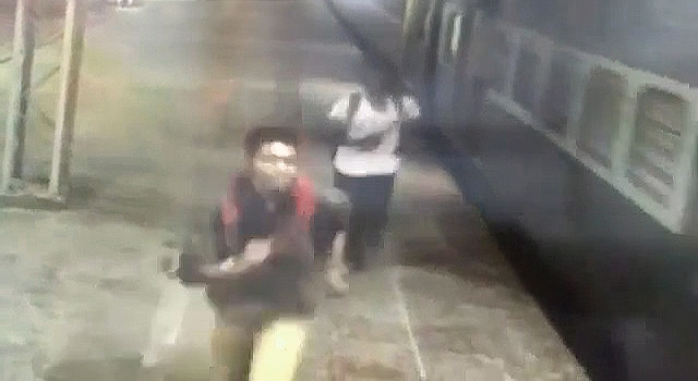 'CATCHING A TRAIN' GOES WRONG... REALLY FUCKIN WRONG