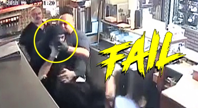 LOL: WANNABE ROBBER GETS ASS BEAT BY ENTIRE RESTAURANT