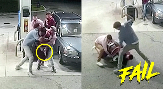 WHEN TRYING TO ROB 4 PEOPLE AT ONCE GOES WRONG