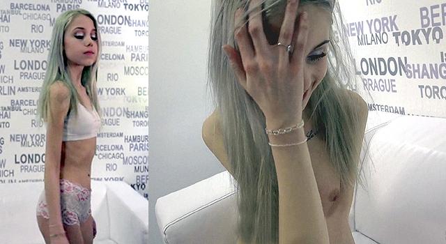 80LB GIRL LOSES VIRGINITY AT A PORN SHOOT [HD REMIX]